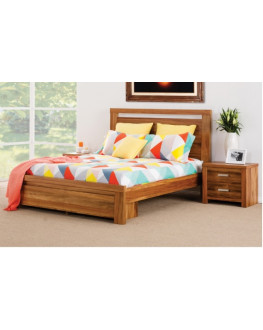 ★ Waratah Wooden Bed with End Drawers, Queen