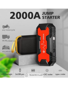 ★12V 2000Amp 368000mAh Jump Starter Box Battery Pack Power Bank for Car