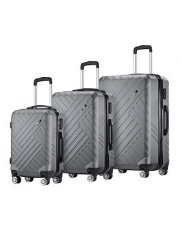★Buonviaggio 3PC Luggage Suitcase Trolley Set
