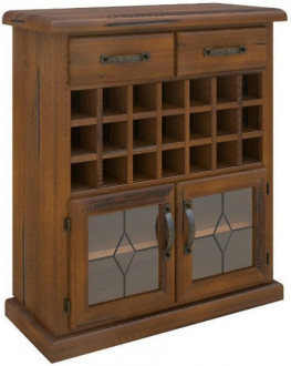 ★ Mulford Solid Pine Timber Wine Rack